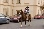 velký kovboj s malou kovbojkou