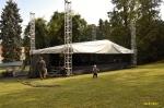 páteční přípravy na festival